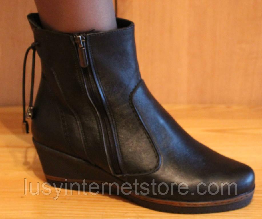 Ботинки женские демисезонные на маленькой танкетке, женская обувь от производителя модель НБ1В