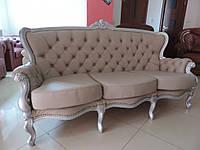 Мягкая мебель в стиле  барокко, кожаный диван барокко
