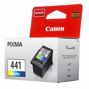 Струйный картридж Canon CL-441 Color Original  оригинальный, цветной, чернильный.
