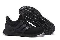 Мужские кроссовки Adidas Ultra Boost (адидас ультра буст) черные, мужские кроссовки для бега