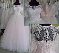 """Свадебное платье с рукавчиком 1/2 """"16-14"""""""