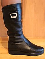 Сапоги женские зимние на плоской подошве, зимняя женская обувь от производителя модель НС1