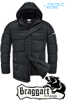 Куртка большого размера  зимняя  Braggart Titans - 4917F черная