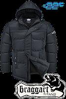Куртка большого размера  зимняя  Braggart Titans - 4917D графит