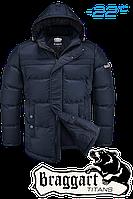 Куртка большого размера  зимняя  Braggart Titans - 4917K темно-синяя