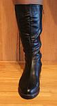Сапоги женские зимние кожаные на низком ходу от производителя модель НС2, фото 3