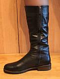Сапоги женские зимние кожаные на низком ходу от производителя модель НС2, фото 4