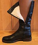 Сапоги женские зимние кожаные на низком ходу от производителя модель НС2, фото 5