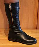 Сапоги женские зимние кожаные на низком ходу от производителя модель НС2, фото 6