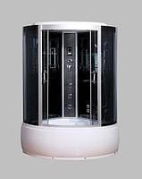 Гидробокс SAN B088 (100*100*215) поддон 30/45см черный кирпич сатин/серое
