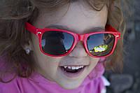 Детские очки красные 3322