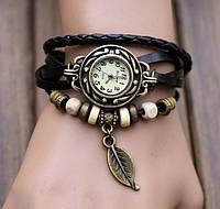 Часы-браслет в стиле Ретро с подвеской Листок