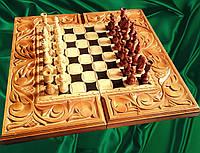 Шахматы-нарды художественные в резьбе