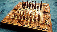 Шахматы-нарды художественные в резьбе, фото 2