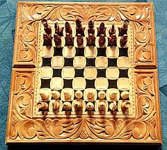 Шахматы-нарды художественные в резьбе, фото 3