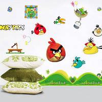Наклейка виниловая Angry birds 2 3D декор