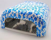 УФ лампа для ногтей лаковая с цветочным принтом 36W