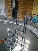 Лестница в басейн из нержавейки
