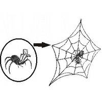 Панно - паутина с паучком