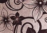 Мебельная рогожка с флоком ткань Шервуд коричневый, фото 2