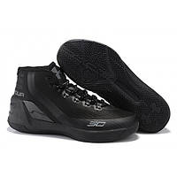 Мужские кроссовки Under Armour Curry 3 All Black Реплика, фото 1