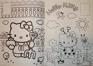 Раскраска с наклейками Hello Kitty, ТМ Kite, фото 3
