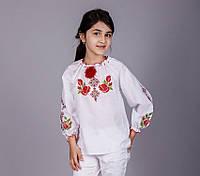 Нарядная вышитая блуза для девочки