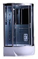 Гидробокс SAN G388L (80*120*215) поддон 26/40см черный кирпич сатин/серое