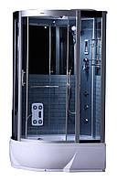 Гидробокс SAN G388R (80*120*215) поддон 26/40см черный кирпич сатин/серое