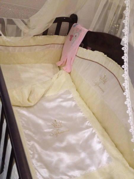 Именные постельные комплекты в кроватку 2