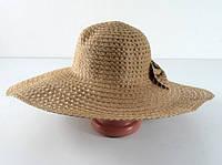Соломенная шляпа Котьир 48 см светло-коричневая