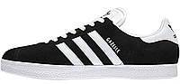 Мужские кроссовки Adidas Originals Gazelle 2 (адидас газели) черные