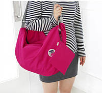 Летняя сумка складывается компактно с длинными, регулируемыми ручками