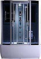 Гидробокс SAN G578 (85*150*215) поддон 40/50 см серый кирпич  сатин/серое
