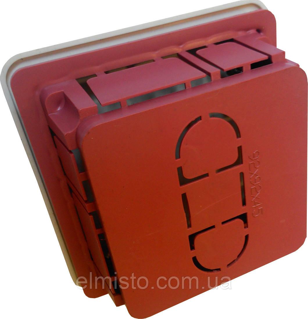 Коробки монтажные для внутренней проводки 92х92х45мм в бетон 100шт/уп