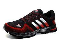 Кроссовки Adidas Marathon TR 21, мужские, текстиль, черные с красным, фото 1