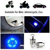 Сенсорная диодная / LED насадка / мигалка / подсветка / колпачок на ниппель колеса