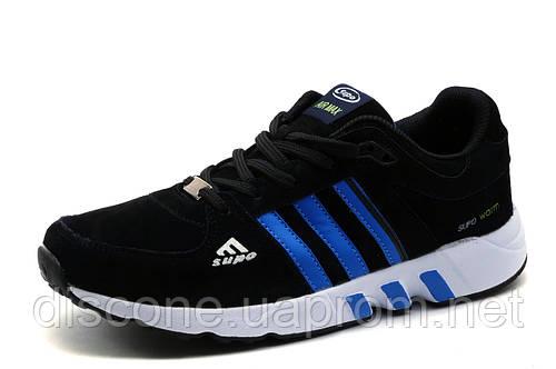 Кроссовки Supo Air Max, мужские, черные с голубым