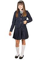 Школьная форма для девочки с отделкой. Пиджак и сарафан