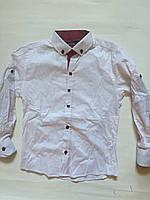 Рубашка приталенная для мальчиков   7-15 лет
