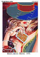 Схема для вышивки бисером Азартная дама