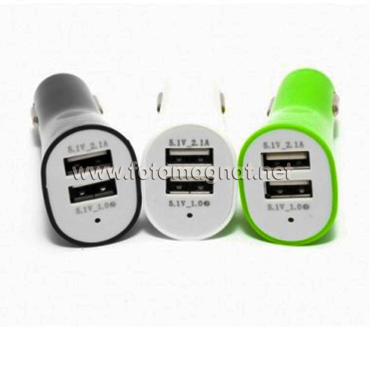 Автомобільний зарядний USB 3.1 А 2 USB COLARIX (прикурювач usb)