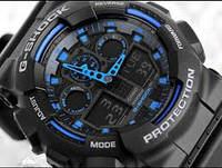 Часы Casio G-Shock Protection (часы Касио синие), фото 1