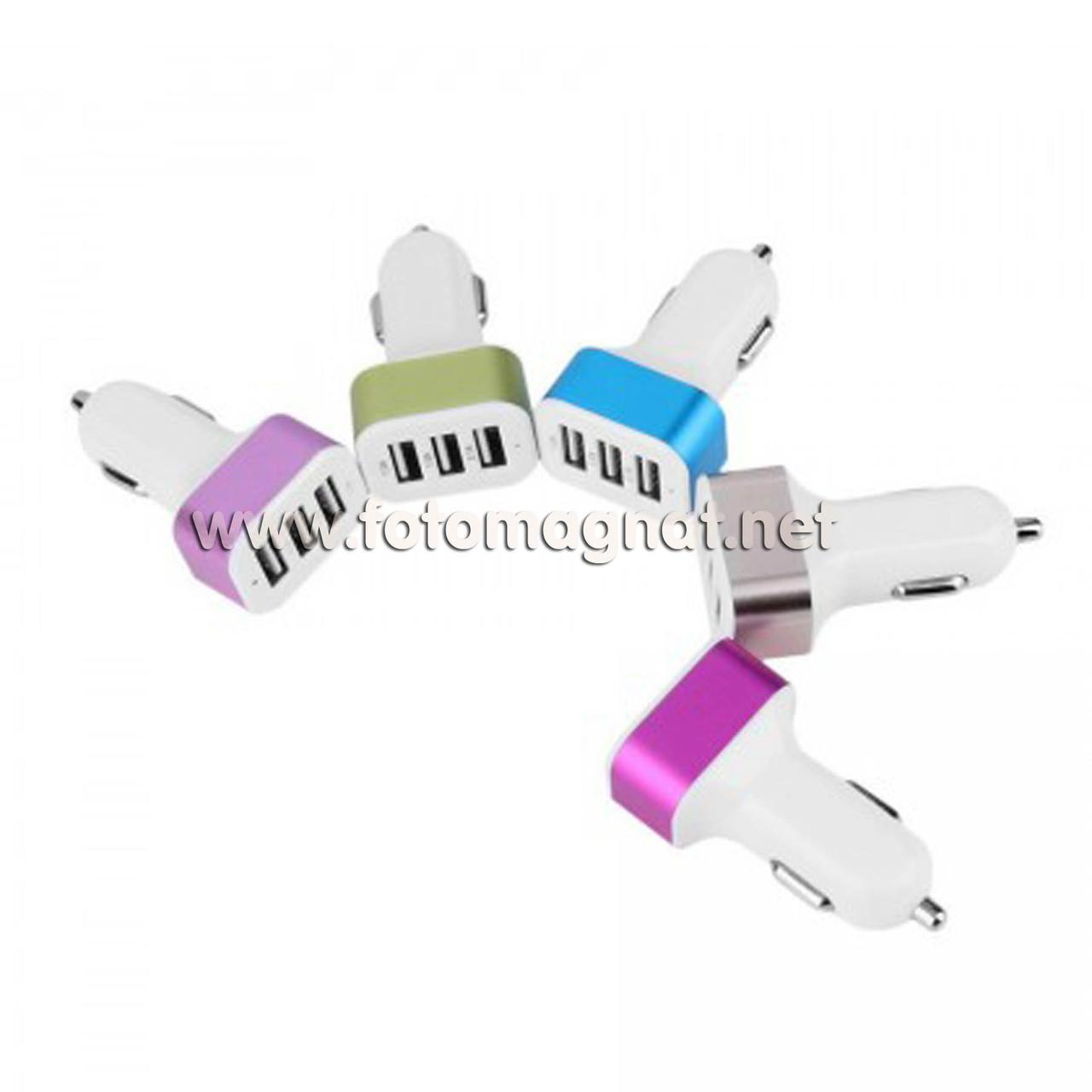 Автомобільний зарядний USB 3.1 A 3 USB COLARIX (прикурювач usb)