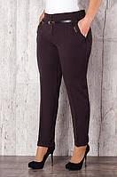 Стильные укороченные женские брюки батал оптом