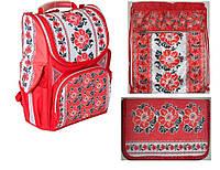 """Набор: Ранец школьный ортопедический """"Вышиванка"""" J.Otten  JO-1618,сумка для обуви JO-16181, пенал  JO-1618,"""