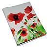 Кожаная женская обложка с цветами -Маки-