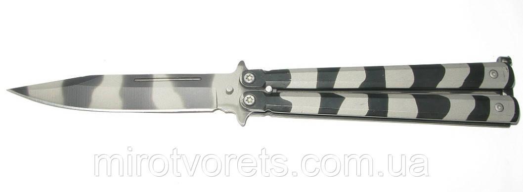 Нож бабочка камуфляж