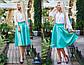 """Женская стильная юбка 229 """"Габардин Клёш Миди"""" в расцветках, фото 3"""