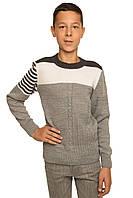 Модный вязаный джемпер для мальчика подростка